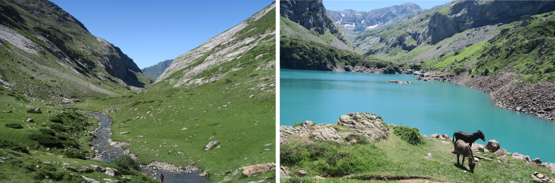 Cirque d'Estaubé et lac des Gloriettes dans les Pyrénées