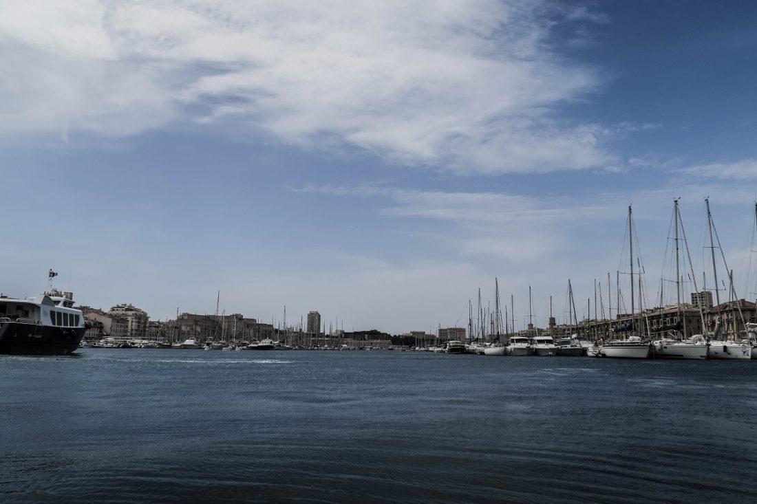 Le vieux port de Marseille en été