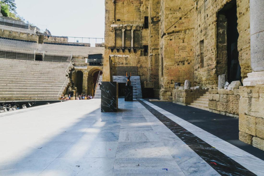 La scène du théâtre antique d'Orange