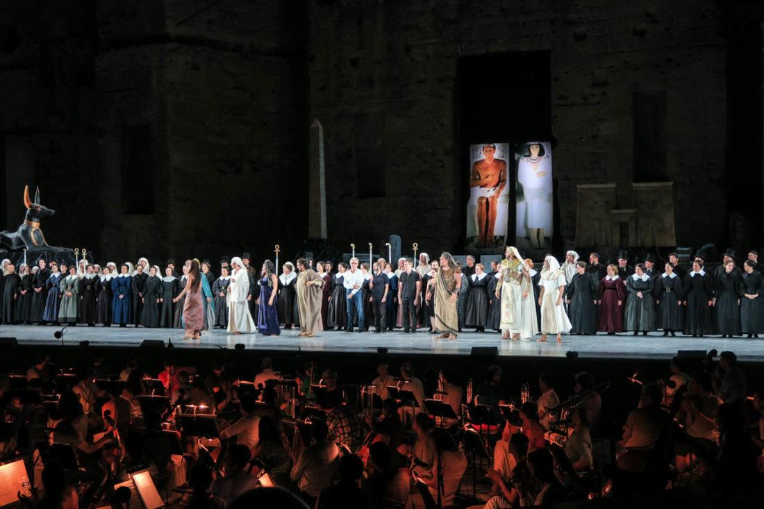 Première d'Aida aux Chorégies d'Orange