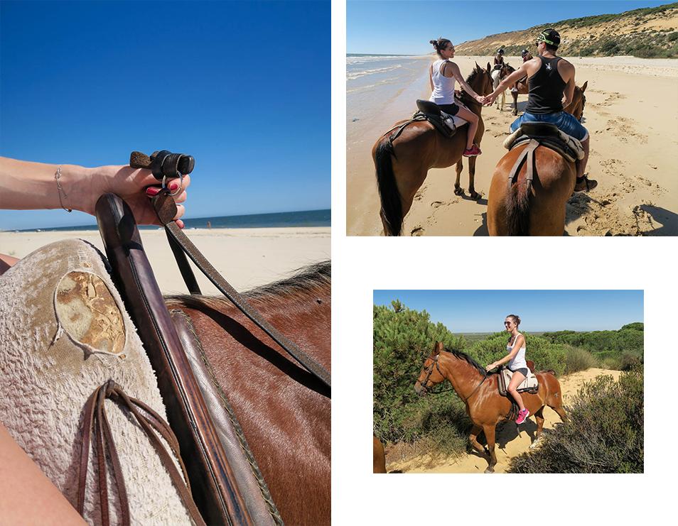 Faire du cheval sur la plage de Matalascanas en Andalousie