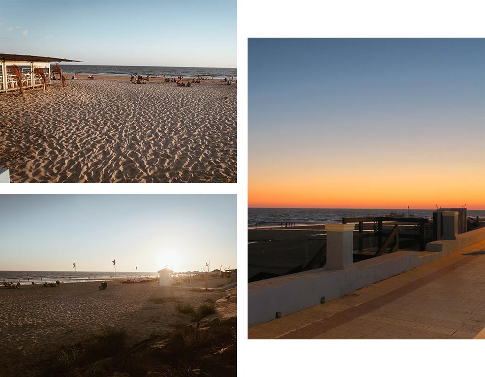Coucher de soleil à Matalascanas en Andalousie