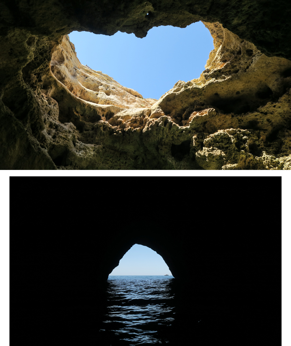 Grotte Algarve en forme de coeur