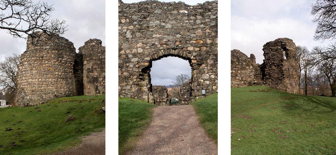 L'entrée du Old Inverlochy Castle