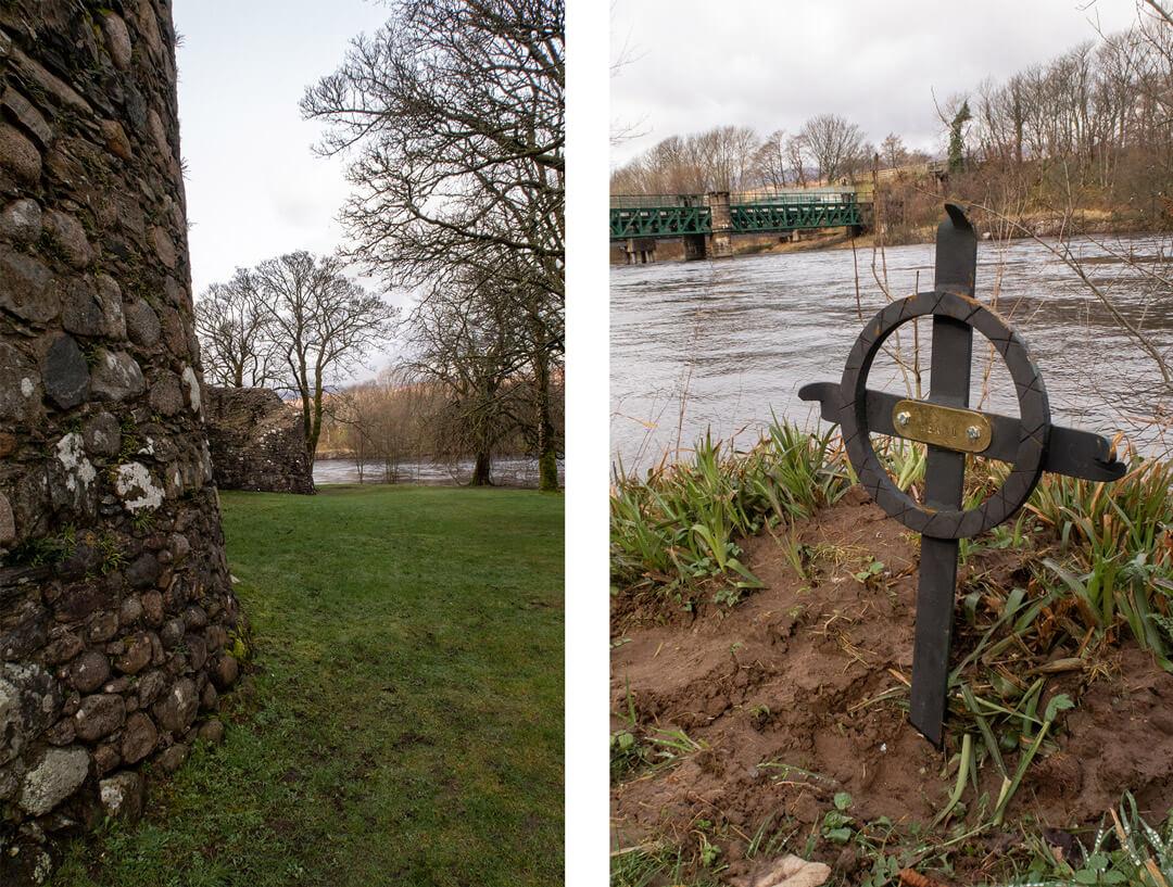 Promenade au sein du Old Inverlochy Castle à Fort William